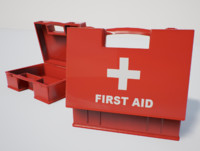 First Aid Box PBR Game Ready
