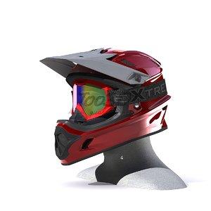 helmet cross 3d model