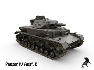 ausf e panzer iv 3d max