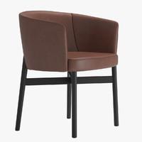 armchair krusin marc knoll 3d max