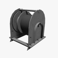 ship winch 3d 3ds