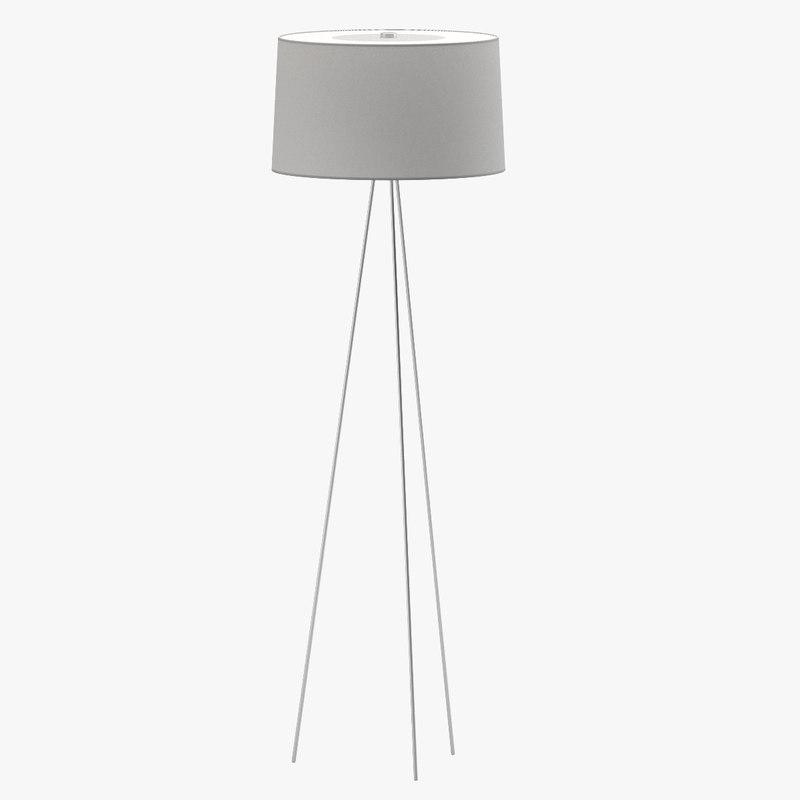 3d model dwr tripod lamp