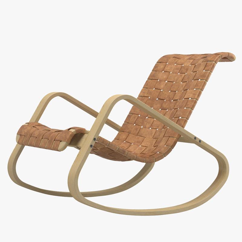 3d model dondolo rocking chair
