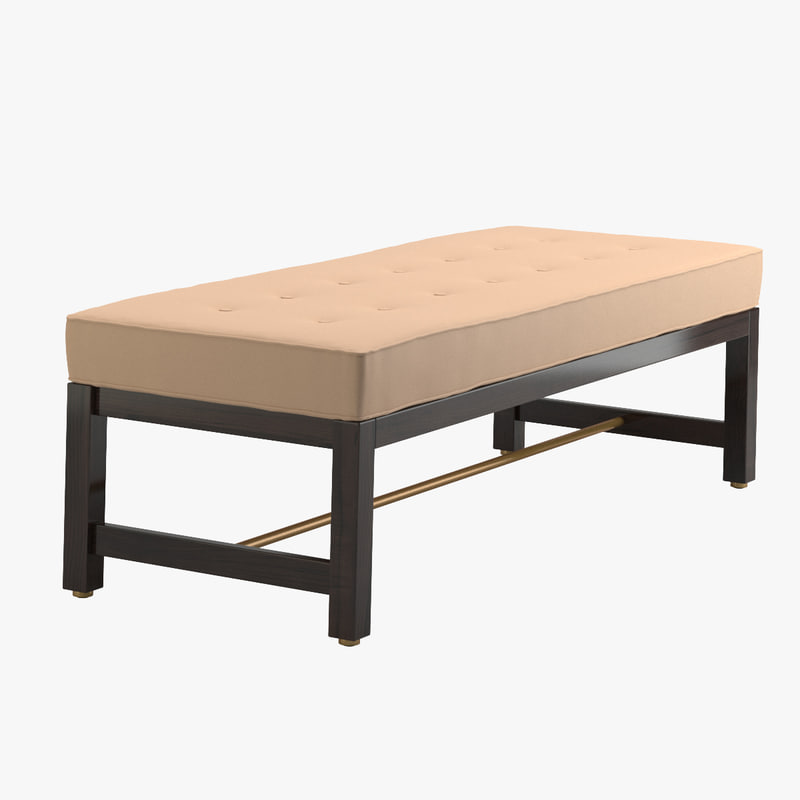 edward wormley bench 3d model