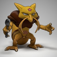 kadabra pokemon 3d model