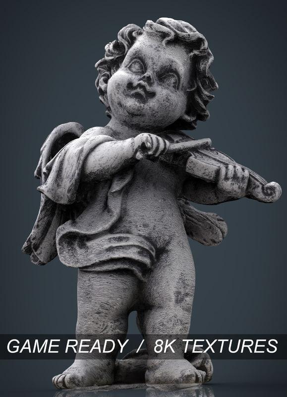 3d model angel stone
