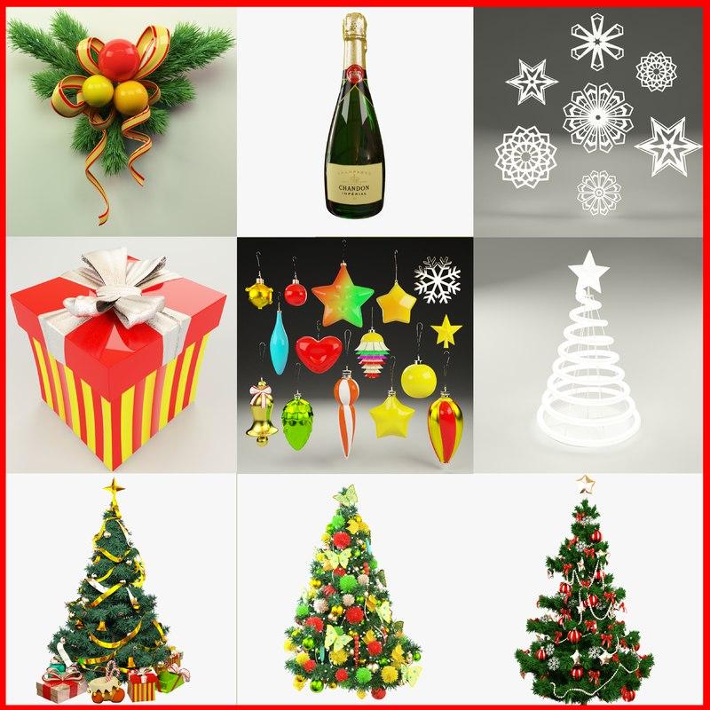 christmas v1 tree 3d max