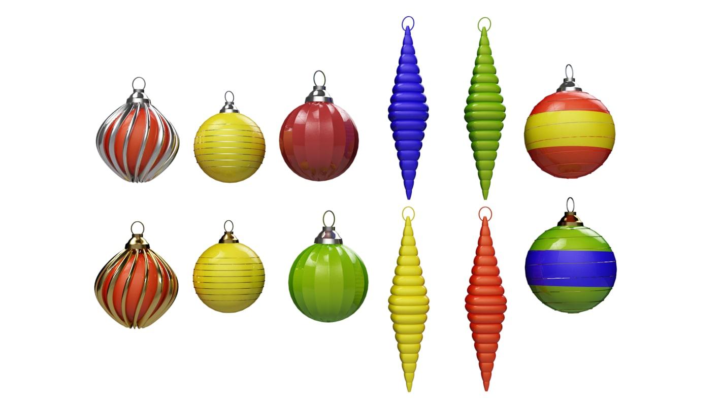 balls christmas obj