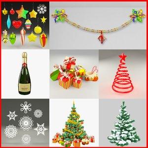 3d christmas v3 tree