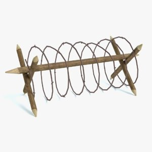 3d barbed wire model