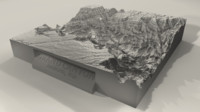 3d printable grand canyon landscape model