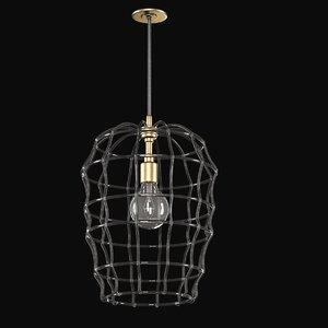 3d pendant light lamp model