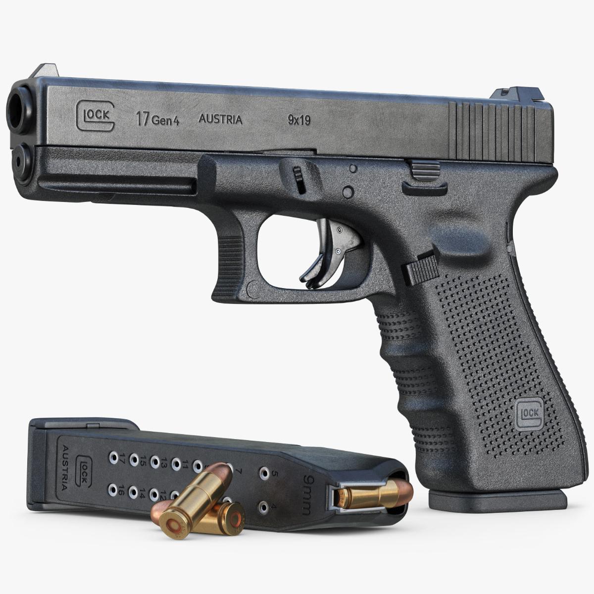 gun glock 17 gen 3d max