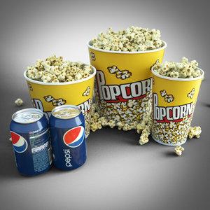 popcorn set 3d 3ds