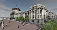 3d model new zealand parliament building