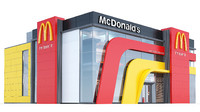 3d model of mcdonalds restaurant