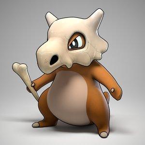 3d model cubone pokemon