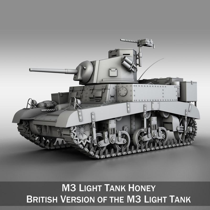 3d british m3 light tank