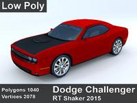 3d dodge challenger rt shaker