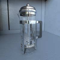 3d french press model