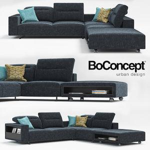 sofa hampton boconcept 3d max