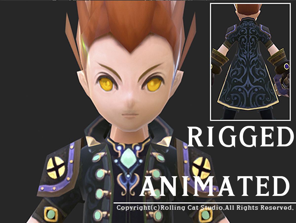 3d rpg knight character man