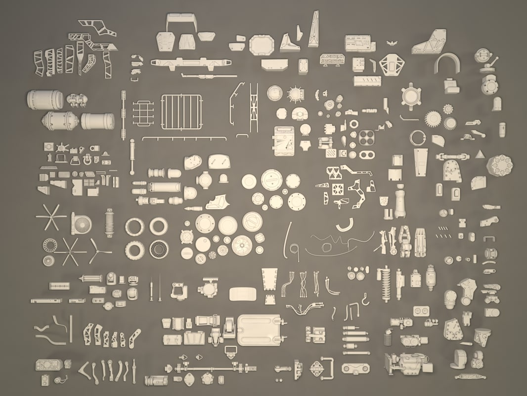 kitbashes - 361 pieces 3d max