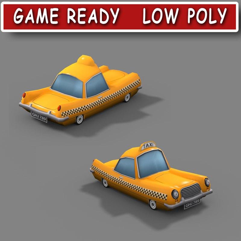 cartoon taxi car max