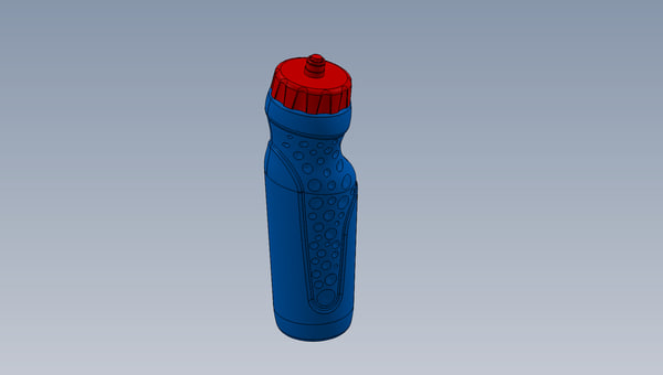 water container solidworks 3d ige