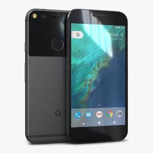 3d model google pixel quite black