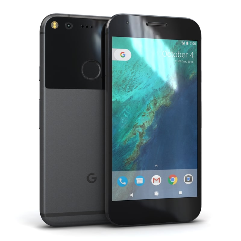 3d model google pixel quite black