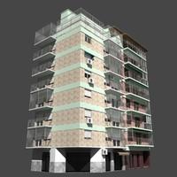 3d model building facade buenos aires