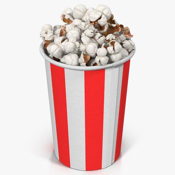 popcorn cup 6 3d max