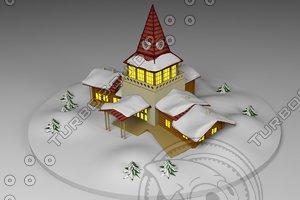 3d santa s house