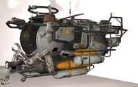 3d mini sci-fi sub model