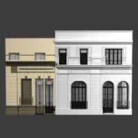 building facade classic buenos 3d model