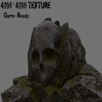 3d model skull rock