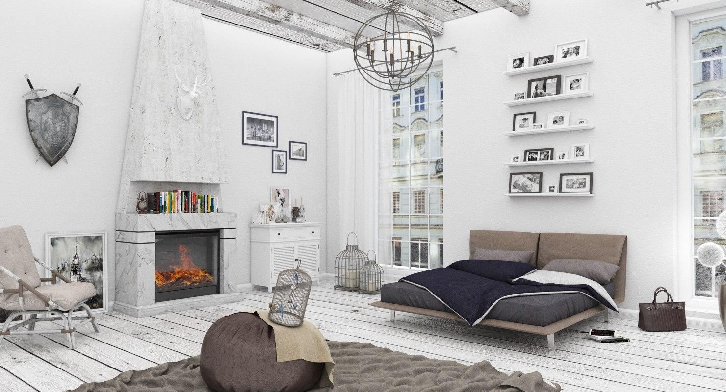 scandinavian style bedroom max