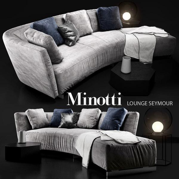 minotti lounge seymour 3d model