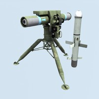 anti-tank missile complex 3d model