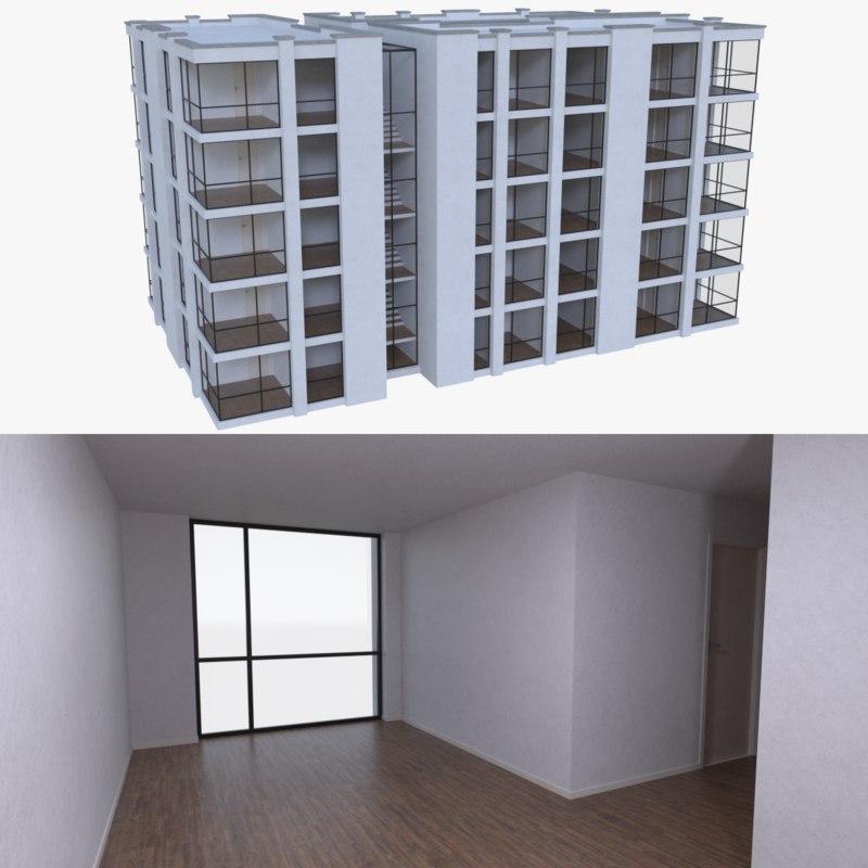 3d apartment interior buildings