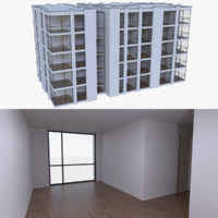 3d apartment interior buildings