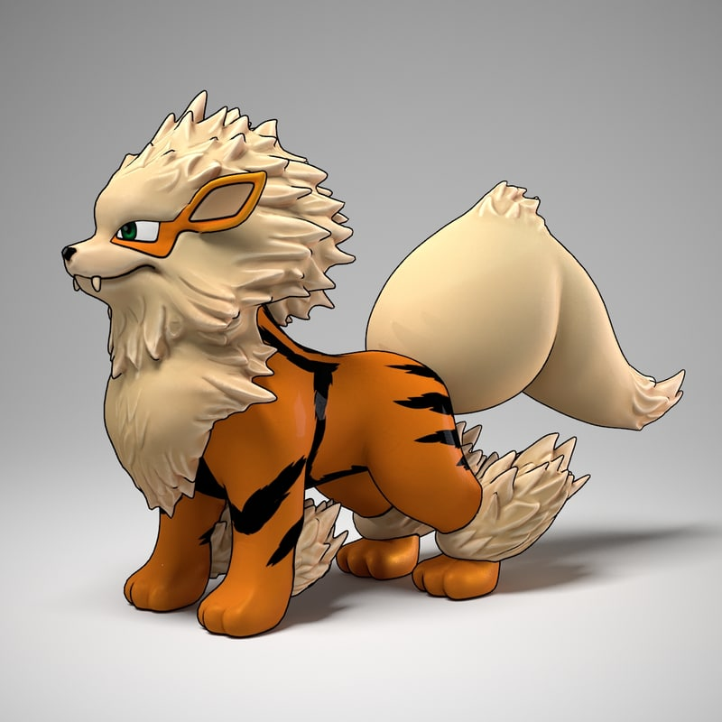 3d model arcanine pokemon