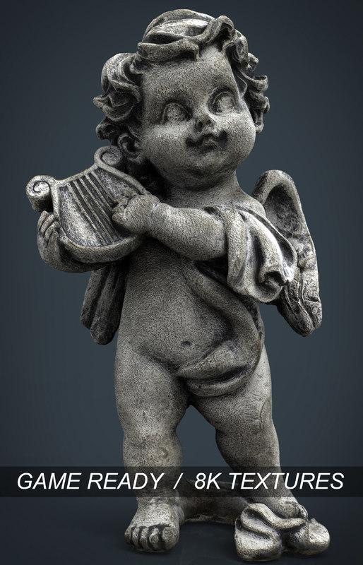 3d model of angel stone