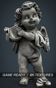3d model of angel stone