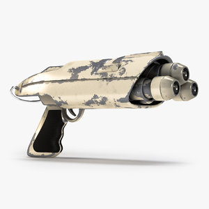 science fiction rifle gun 3d max