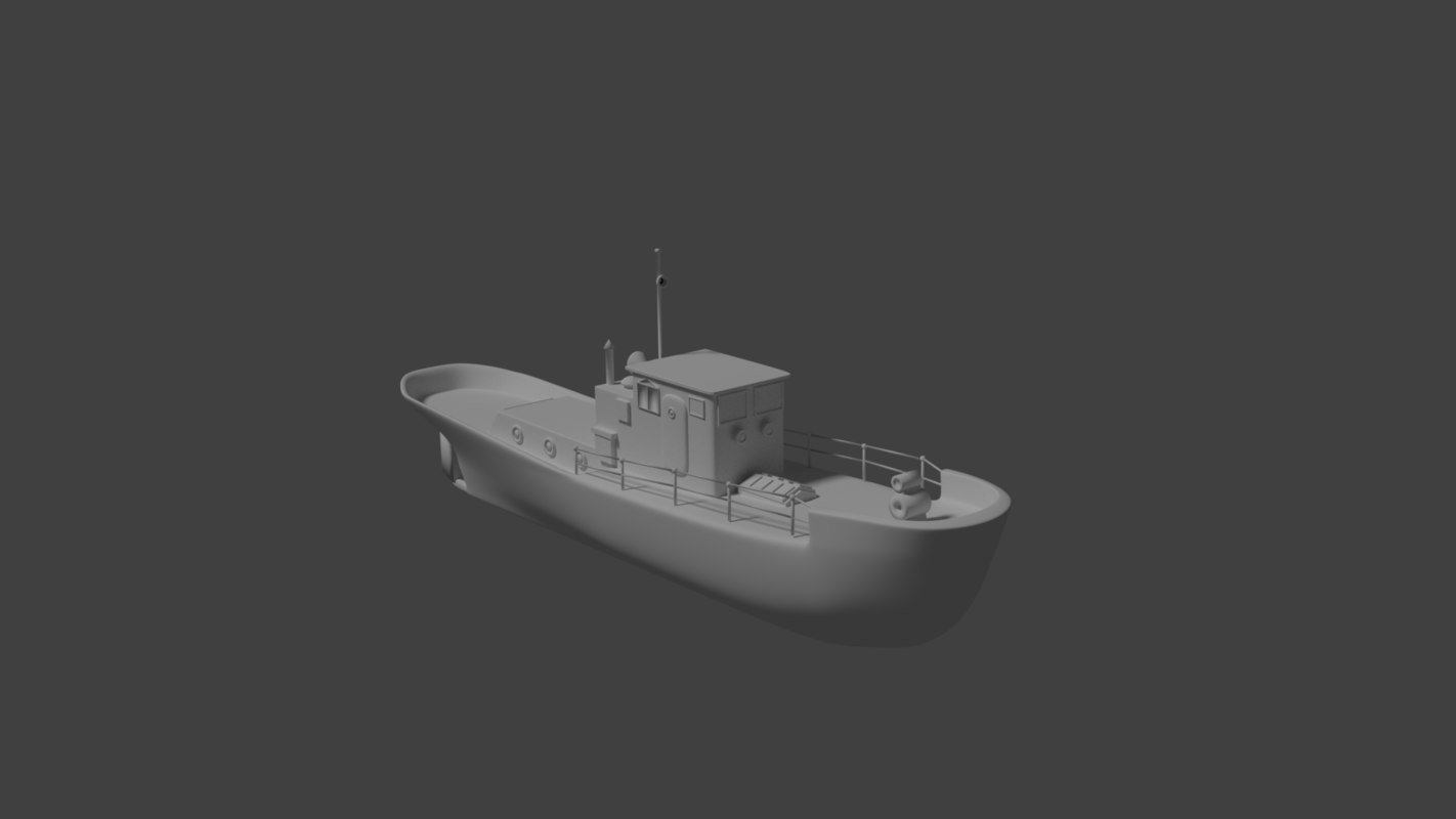3d harbor tug model