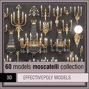 moscatelli 60 items lighting 3d model