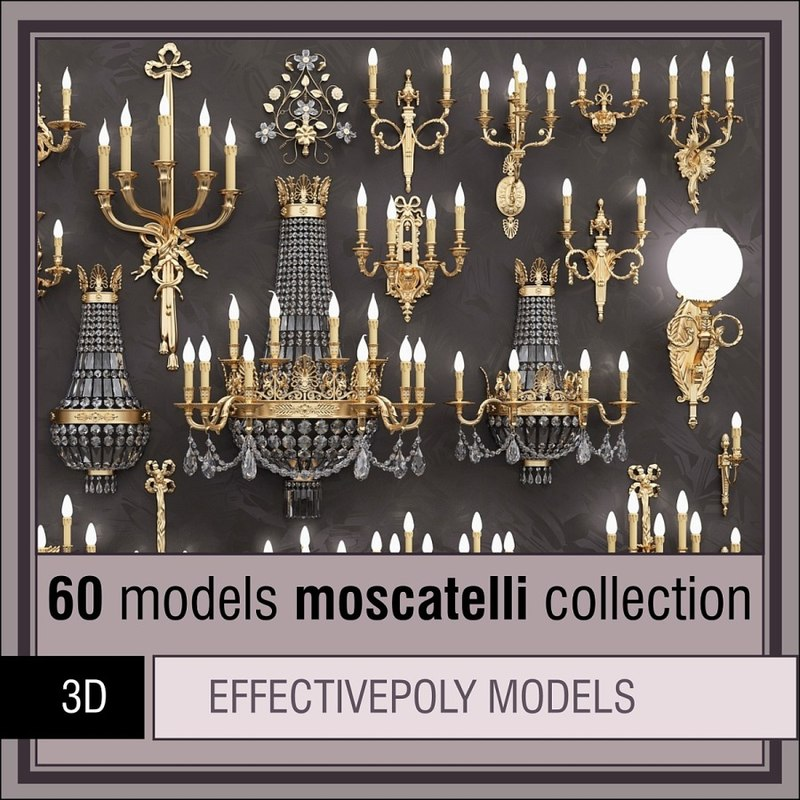 moscatelli 60 items lighting 3d model