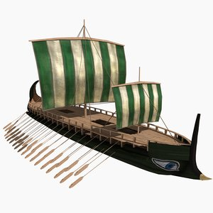 3d model historical greek heptere